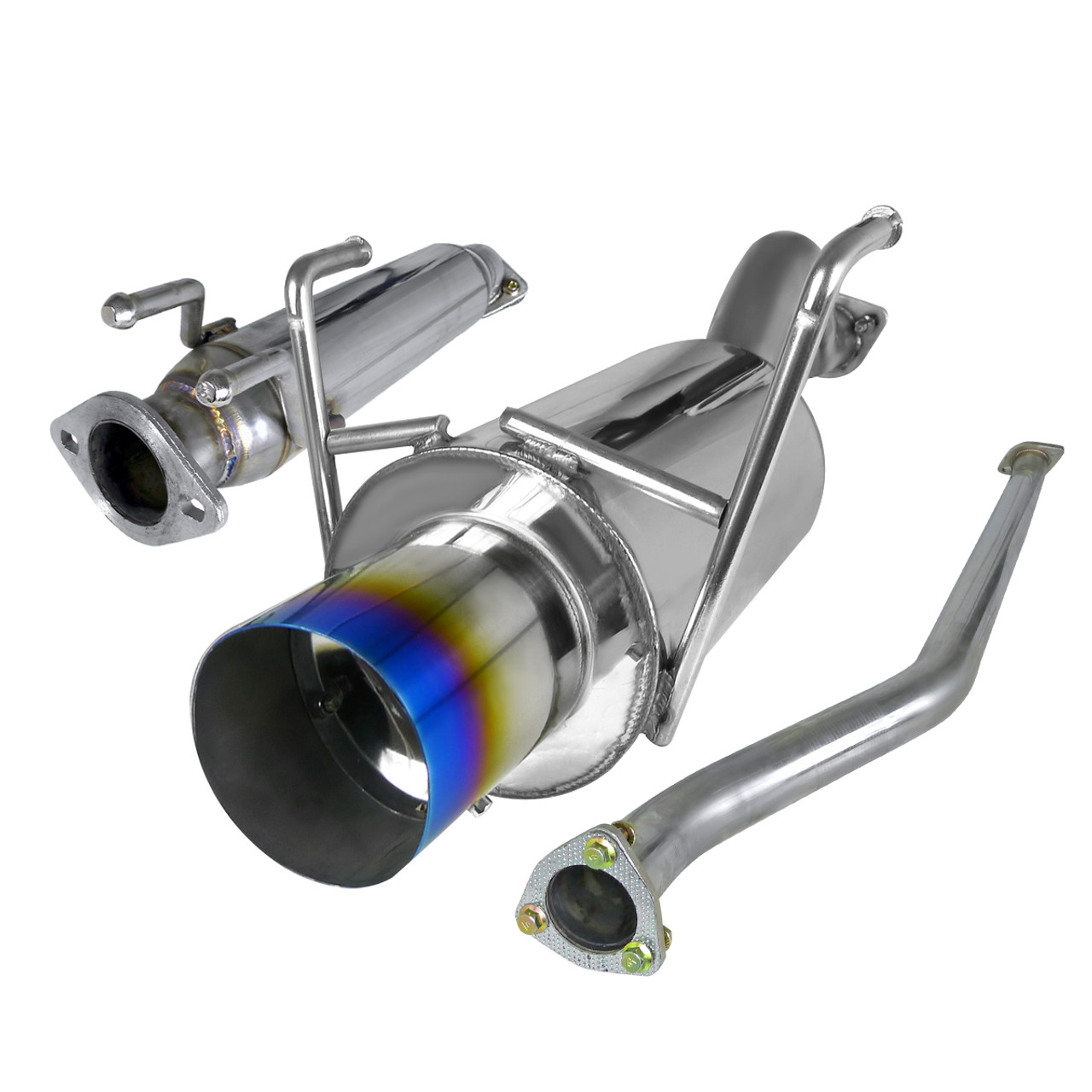 2002 2005 honda civic si hatchback t 304 stainless steel n1 style catback exhaust system w burnt tip