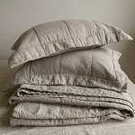 Linen Quilted Shams Linen Sheets Linoto Linen Natural Bedding