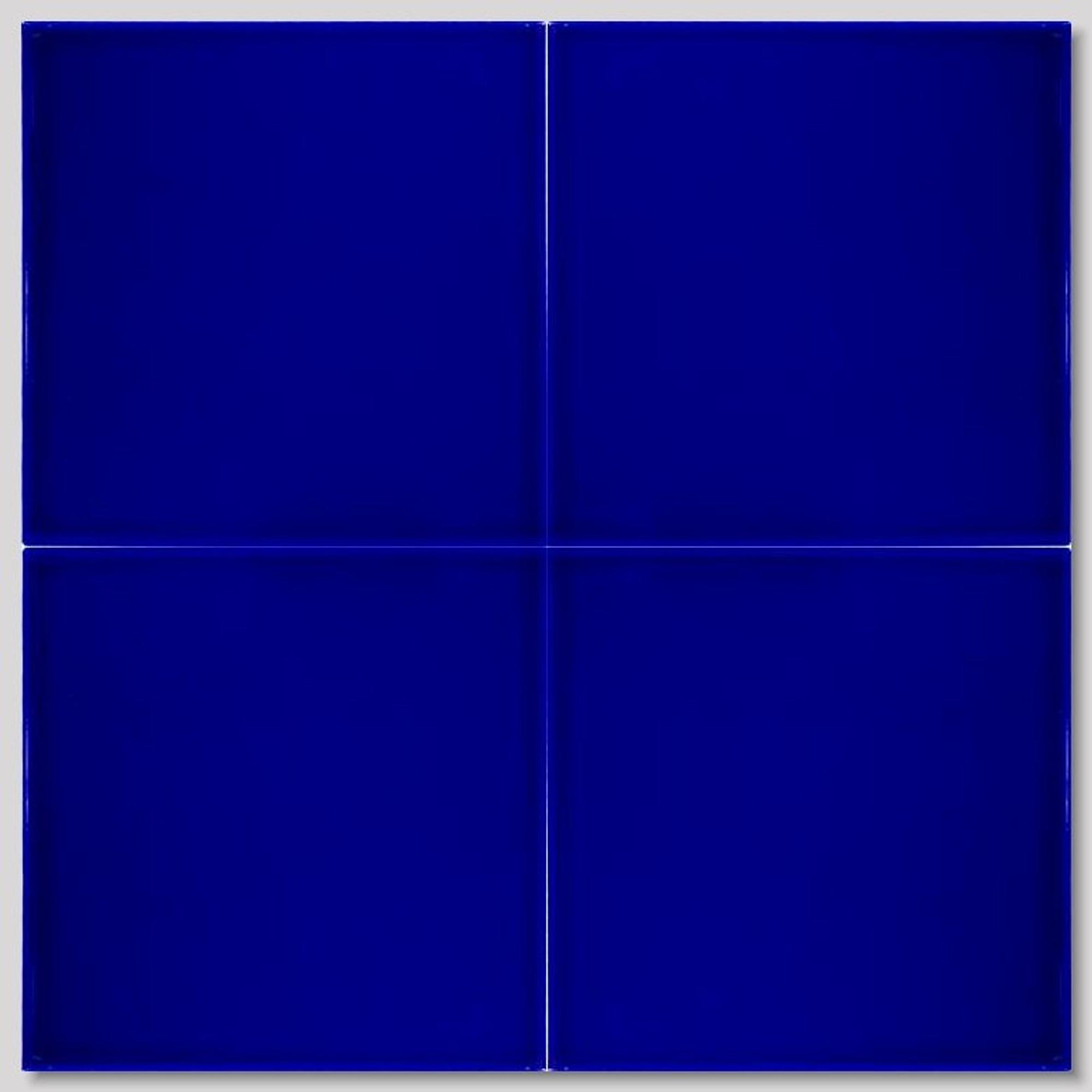cobalt blue ceramic wall tile