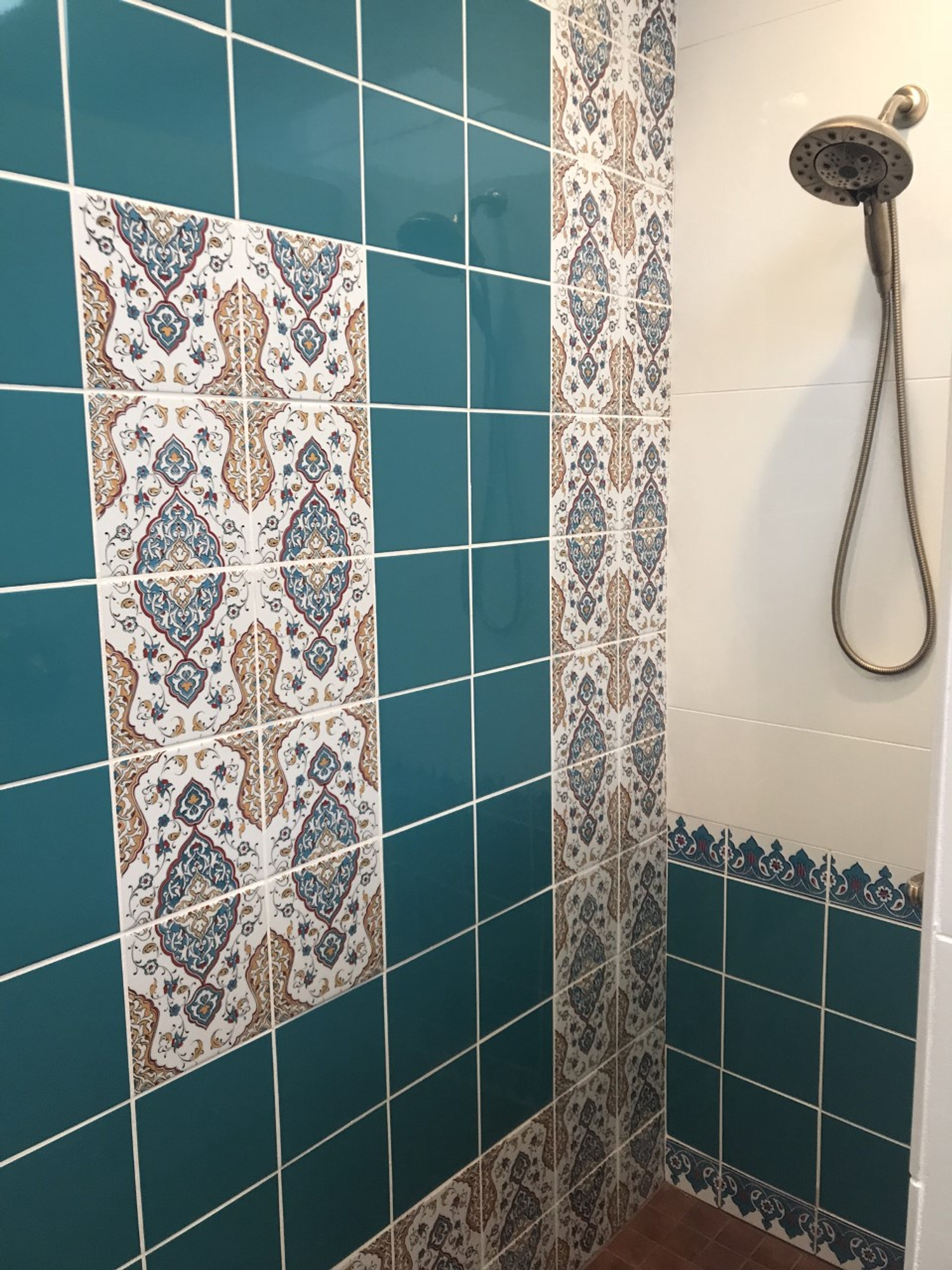 turquoise wall tile