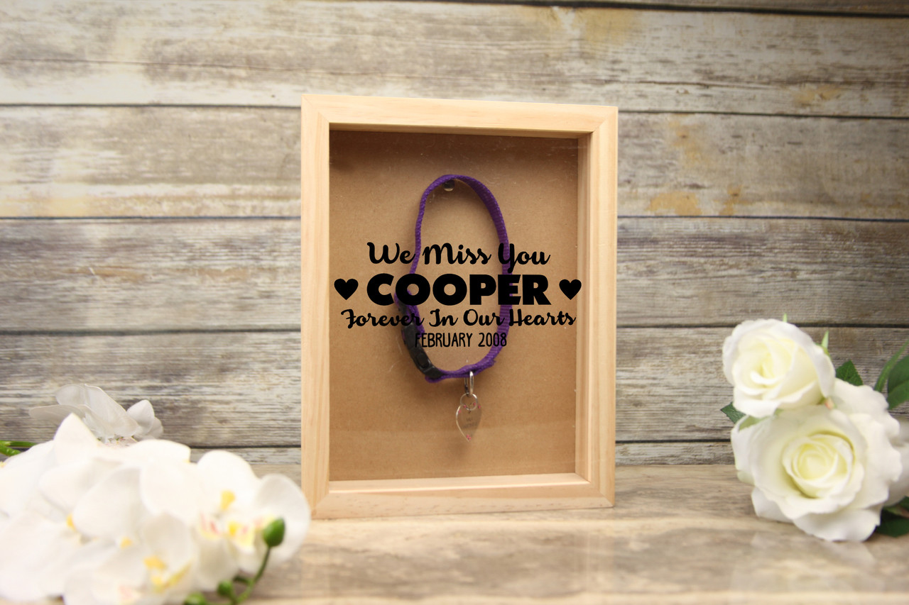 Personalized Shadow Box We Miss You Pet Memento Cabanyco