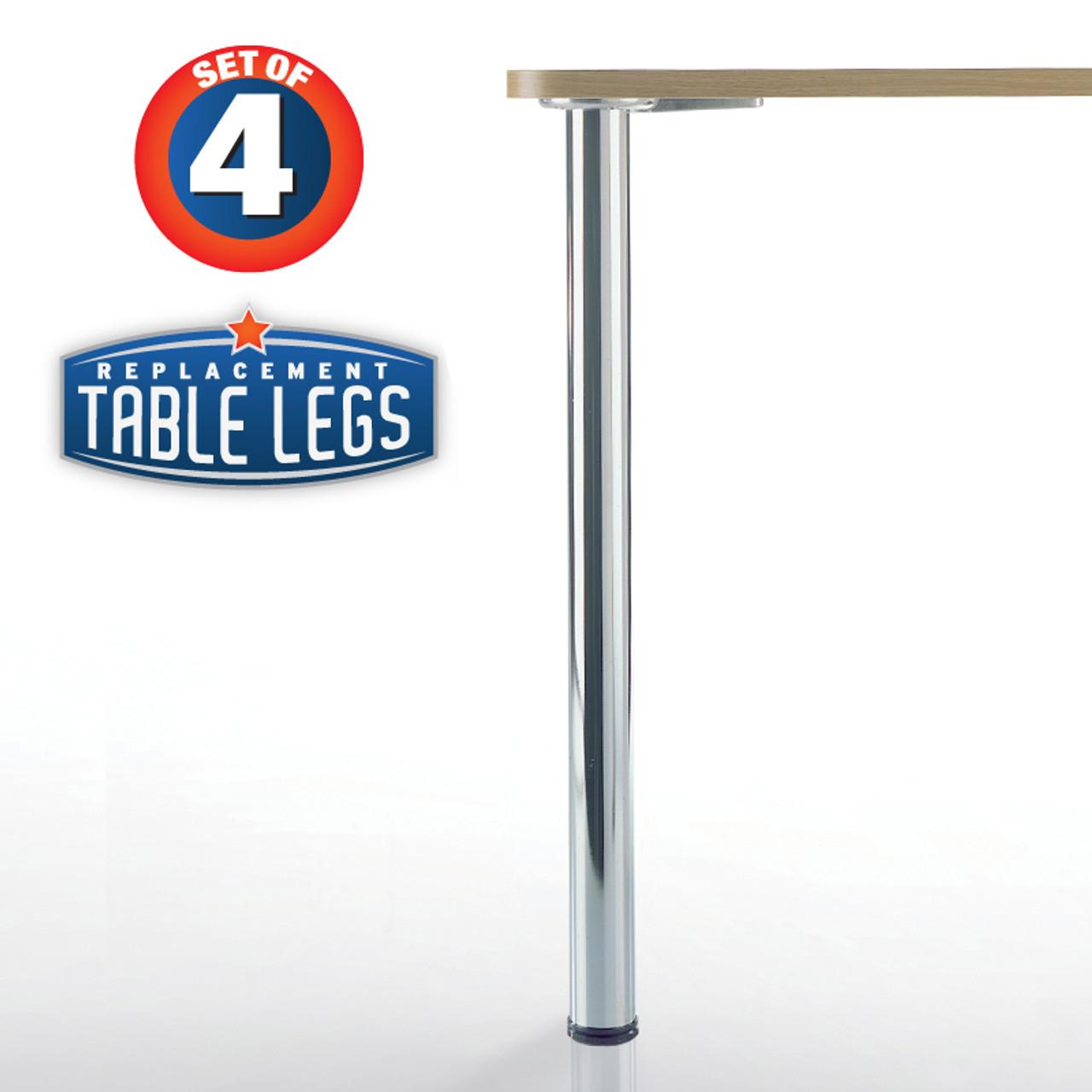 prisma table legs 34 1 4 counter height 2 3 8 diameter 1 1 8 adjustable foot set of 4