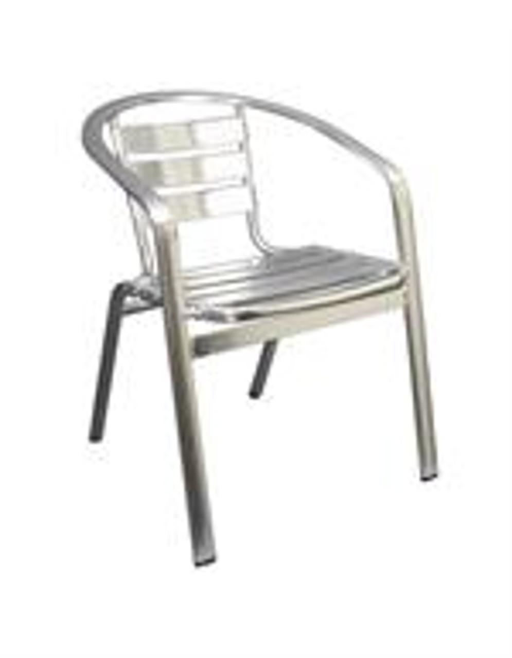 maria outdoor aluminum stack chair
