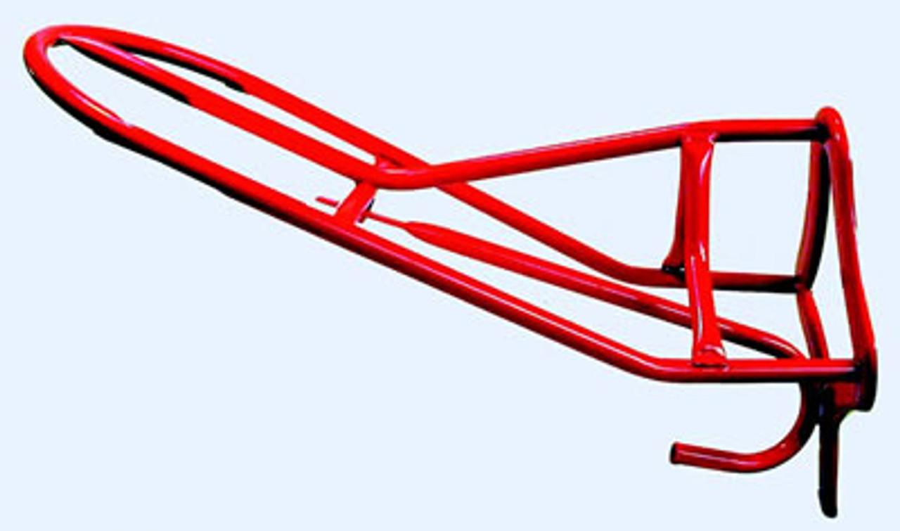 english seat red saddle rack
