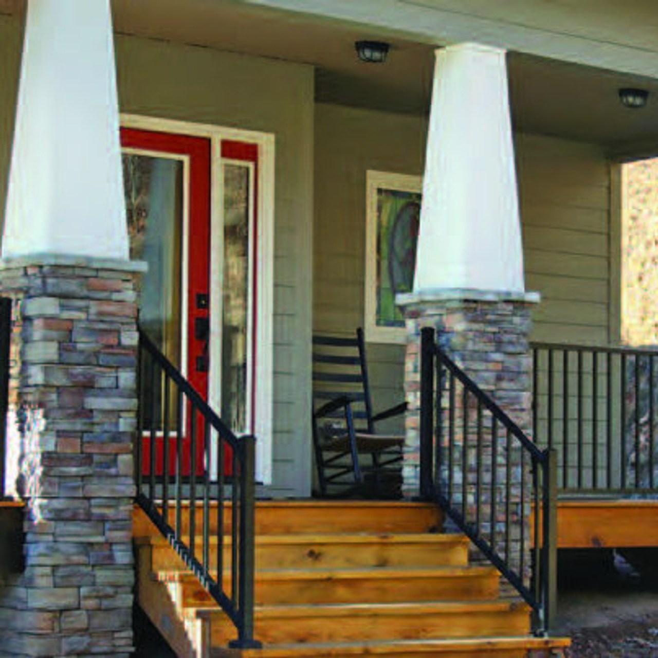 Westbury Tuscany Aluminum Stair Railing Kit W Mounts | Aluminum Handrails For Outdoor Steps | Wrought Iron Railings | Baluster | Staircase | Freedom | Powder Coated Aluminum