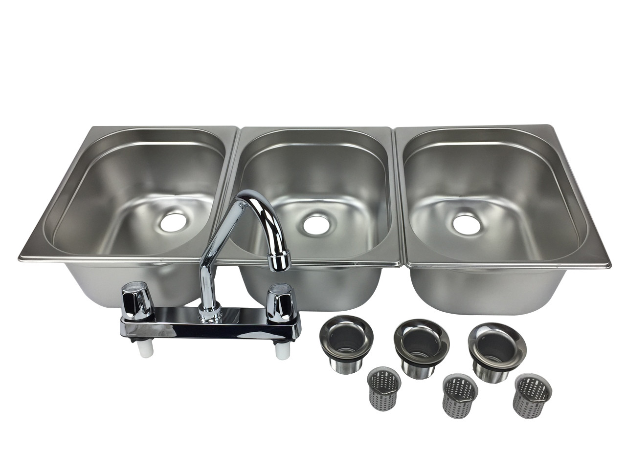 concession sink portable 3 compartment stand food truck trailer 3l w faucet