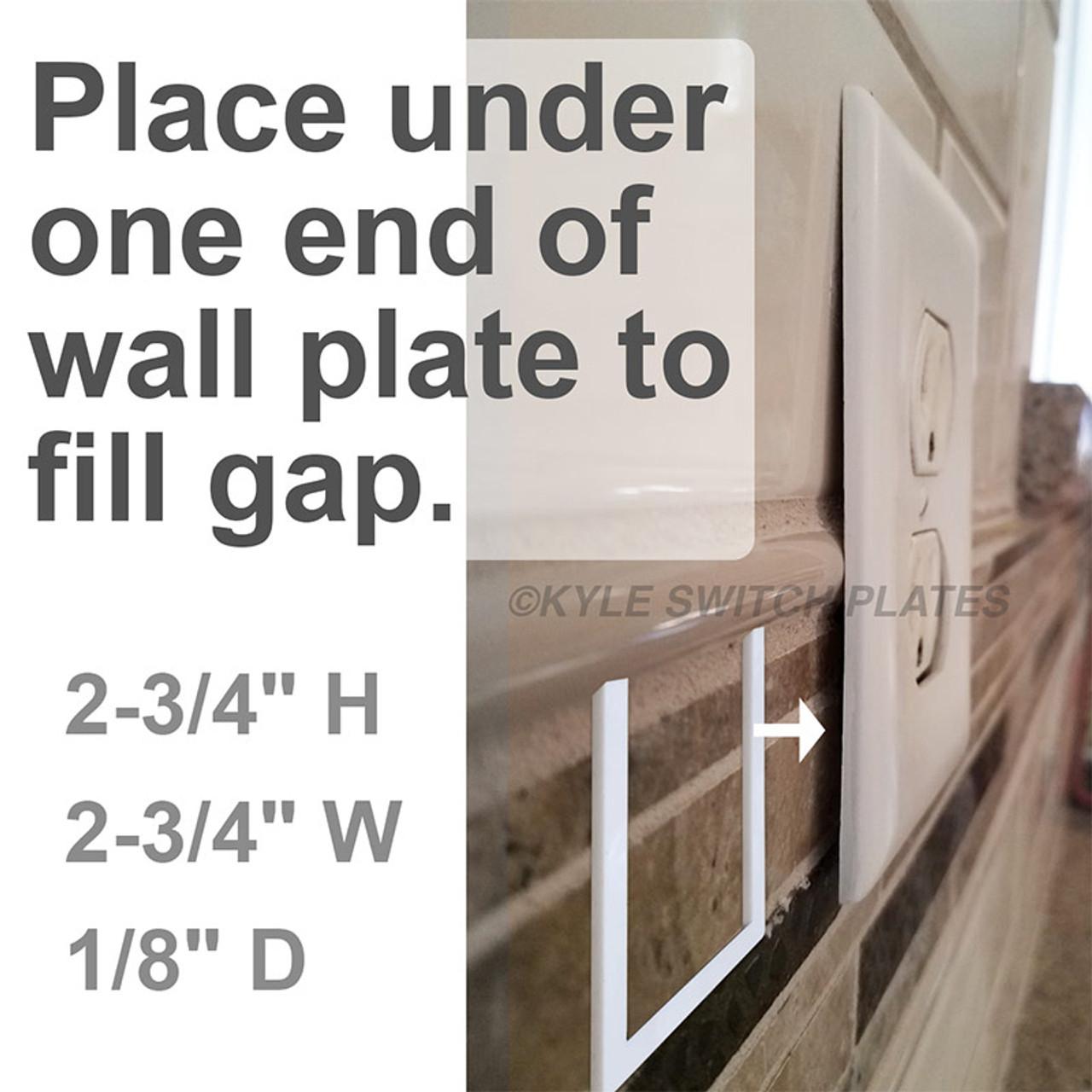 half gap depth ring wall plate extender gasket 1 gang