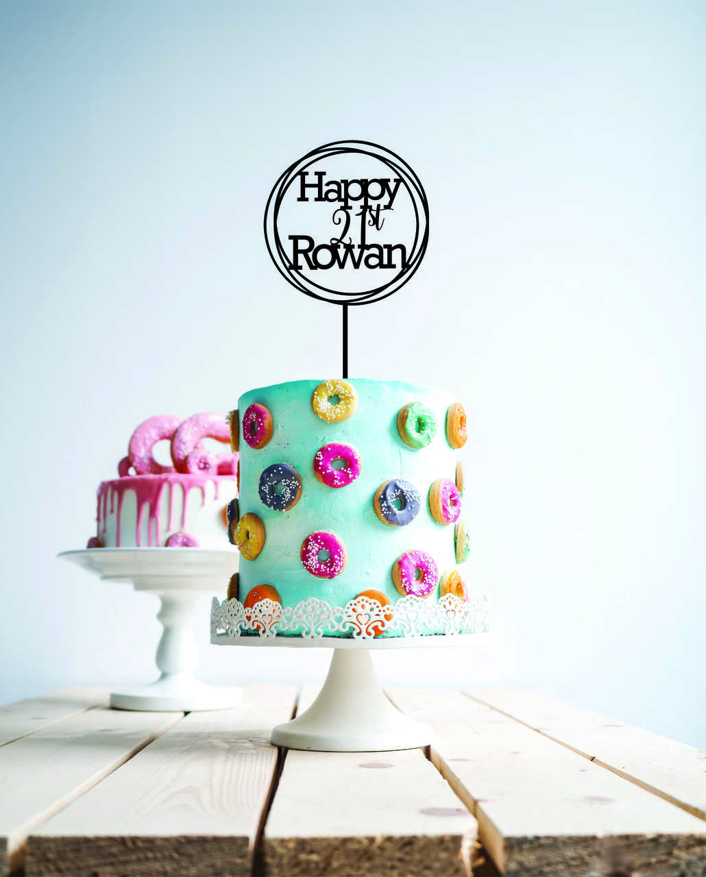 Custom Happy 21st Birthday Cake Topper Anrol Designs