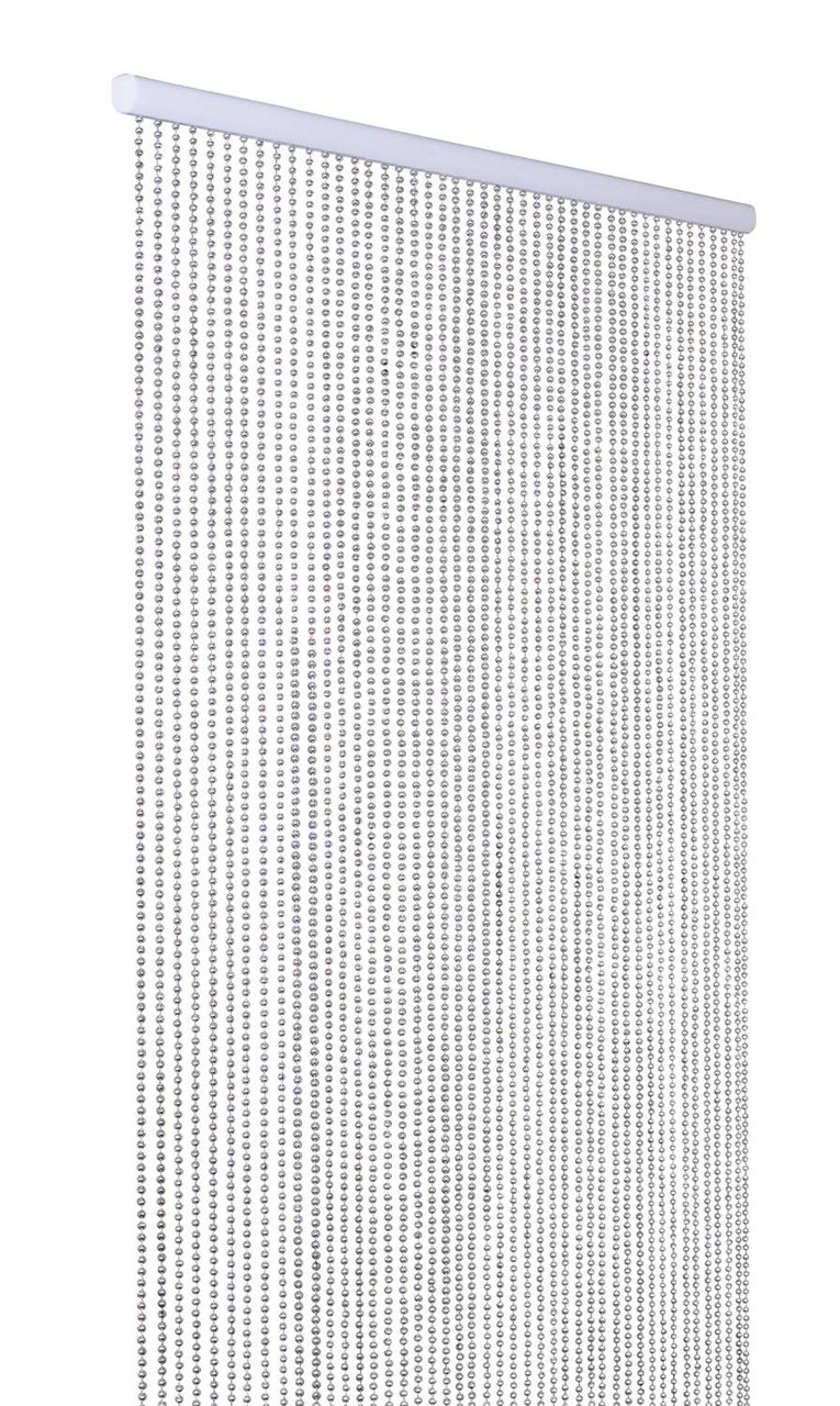 ballchain faux metal beaded curtains silver 6mm 3 ft x 6 ft