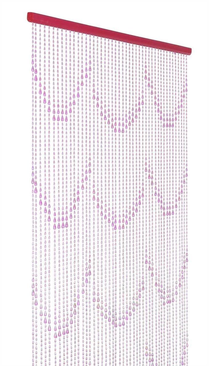 raindrops beaded curtain pink non iridescent 3 ft x 6 ft