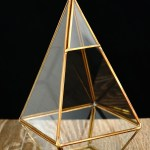 Gold Trim Geometric Terrarium Hang Or Tabletop Centerpiece Shopwildthings Com