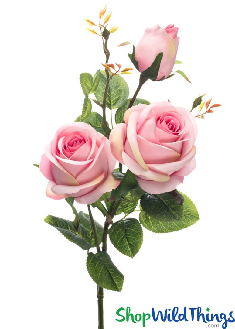 Silk Roses Spray - 3 Heads - 31