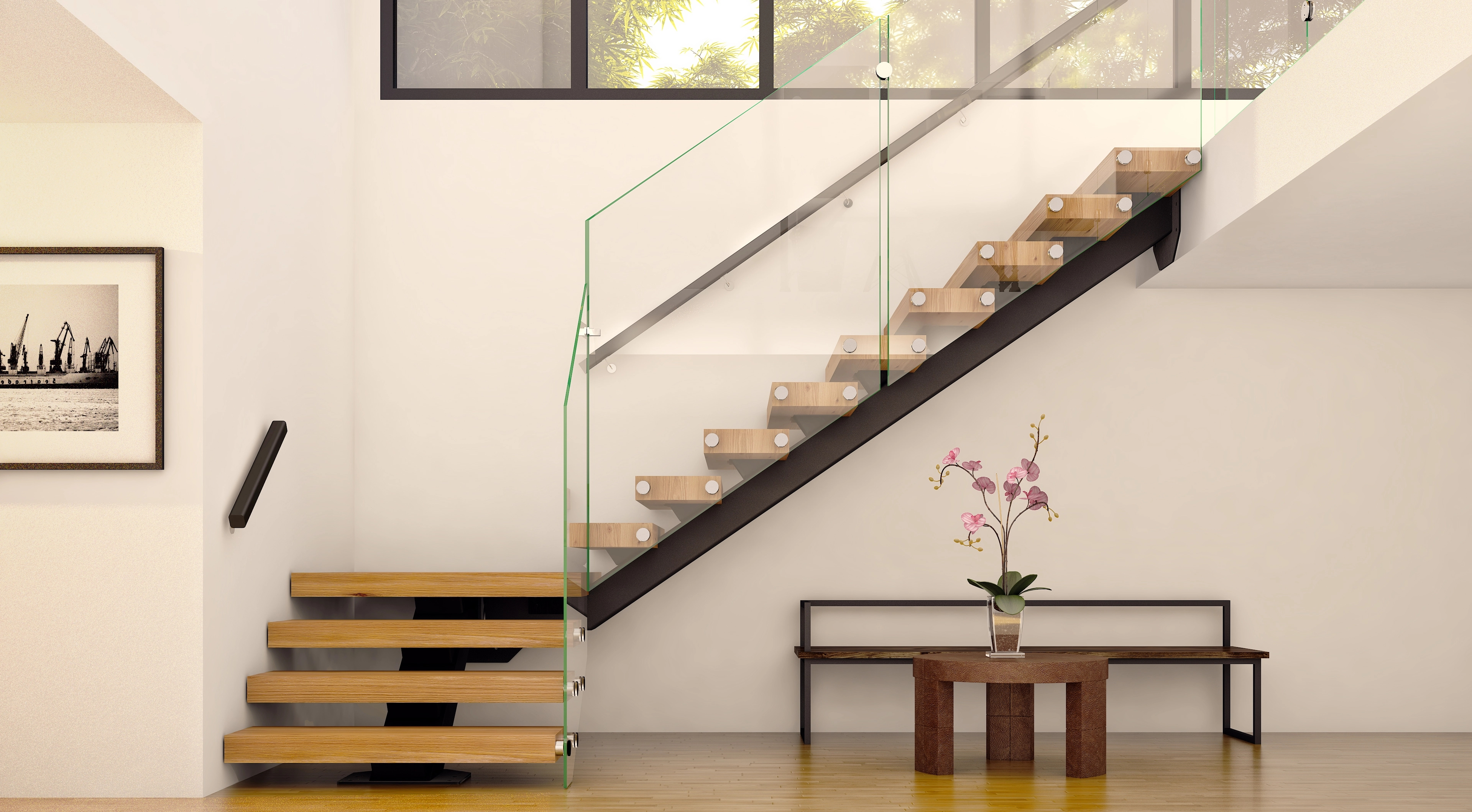 Floating Straight Staircases Made To Order Mylen Stairs | Staircase Companies Near Me | Wrought Iron Balusters | Stair Remodel | Stair Parts | Stair Stringers | Stair Railing