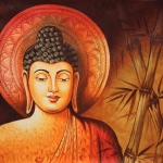 Buy Lord Buddha With Bamboo 01 Handmade Painting By Artoholic Code Art 3319 34365 Paintings For Sale Online In India