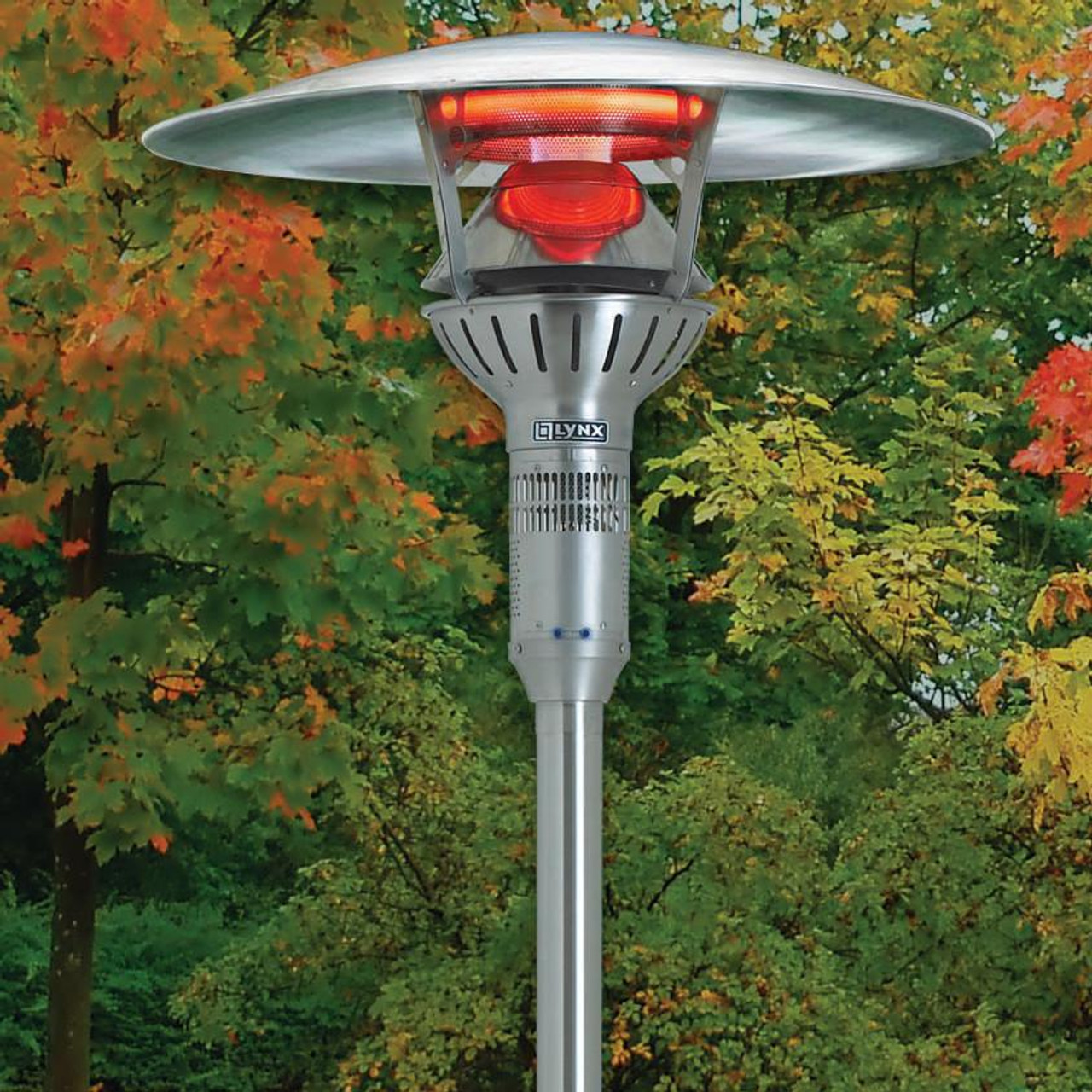 lynx lhpm ng post mount infrared outdoor natural gas patio heater with switch and transformer electrical kit