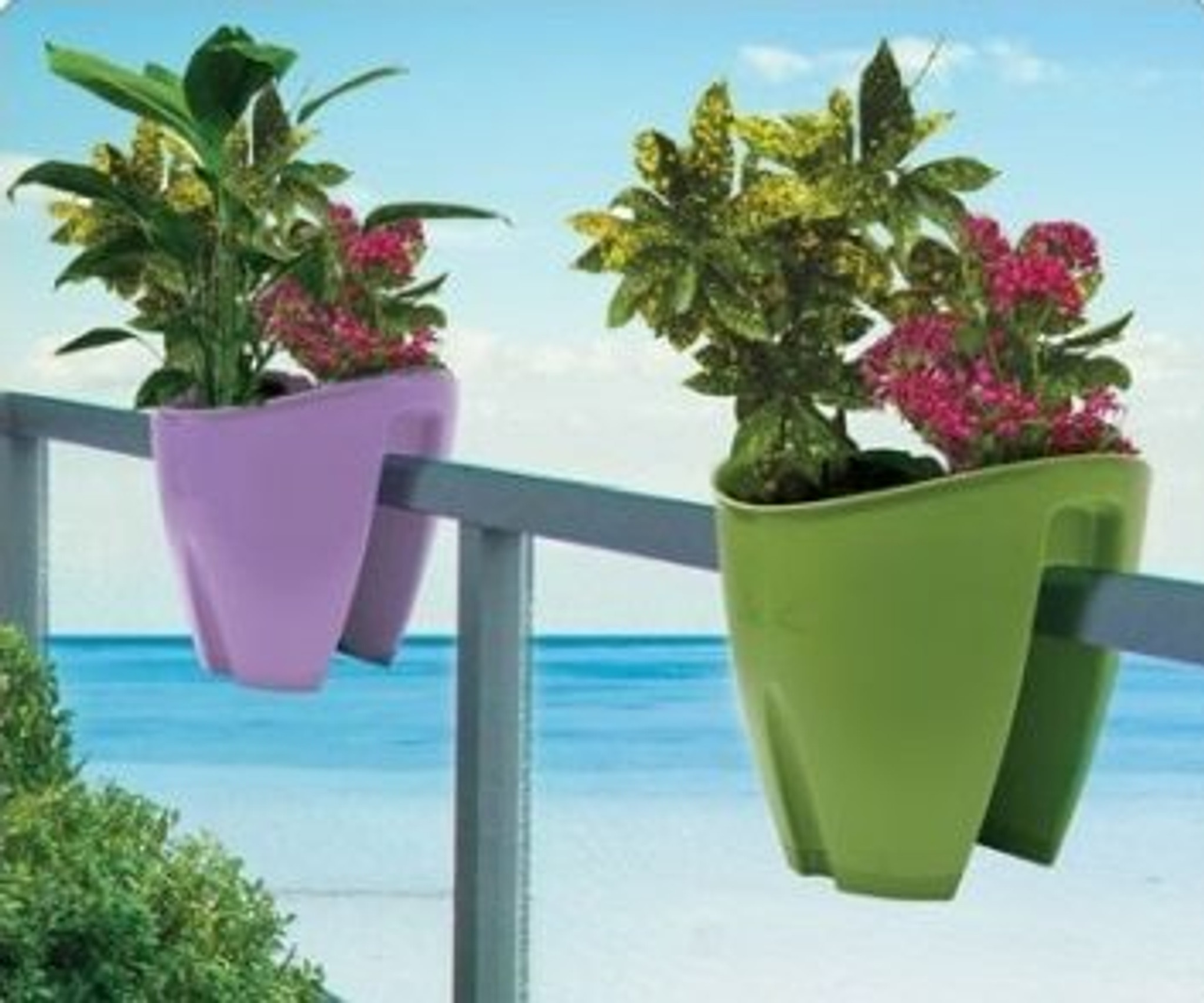 best4garden large railing planter for balconies with clever adjustable system
