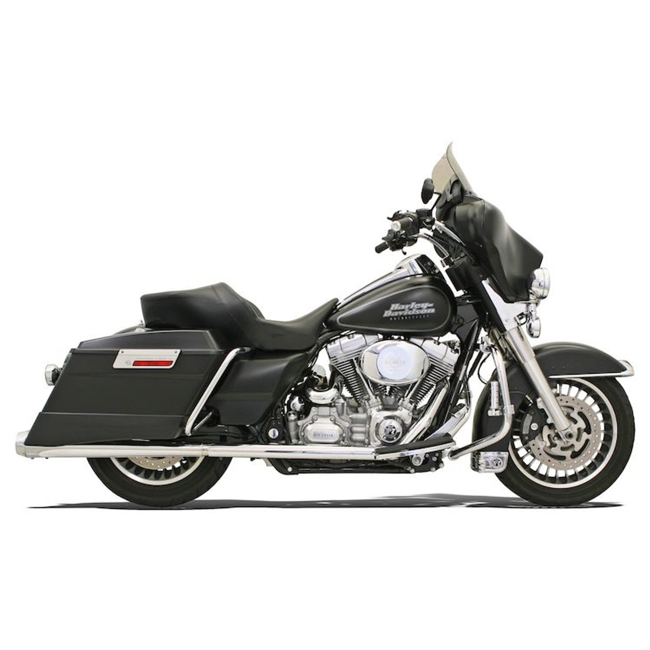 bassani power curve true dual crossover header pipes for 09 16 harley davidson touring models chrome