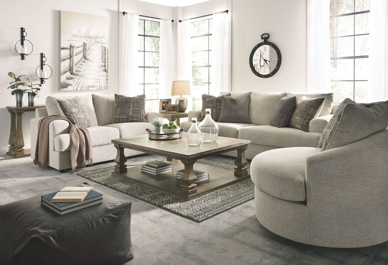 Ashley Soletren Stone Sofa Loveseat Swivel Accent Chair On Sale At Furniture And Mattress Warehouse Serving Holland Mi