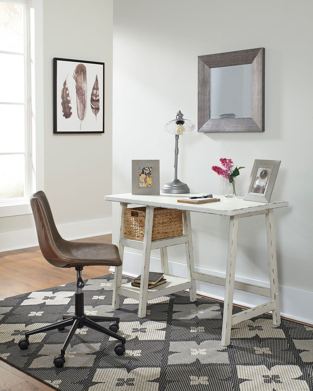 The Mirimyn Antique White Small Desk Swivel Desk Chair Available At Ritz Furniture Planet Serving Mississauga On