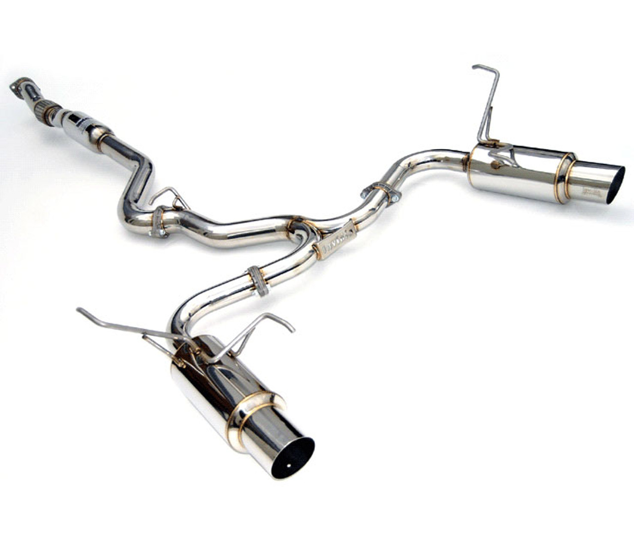 invidia n1 cat back exhaust dual stainless or burnt tip 2015 wrx sti