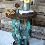 Loco Round Side Table Sofia S Rustic Furniture