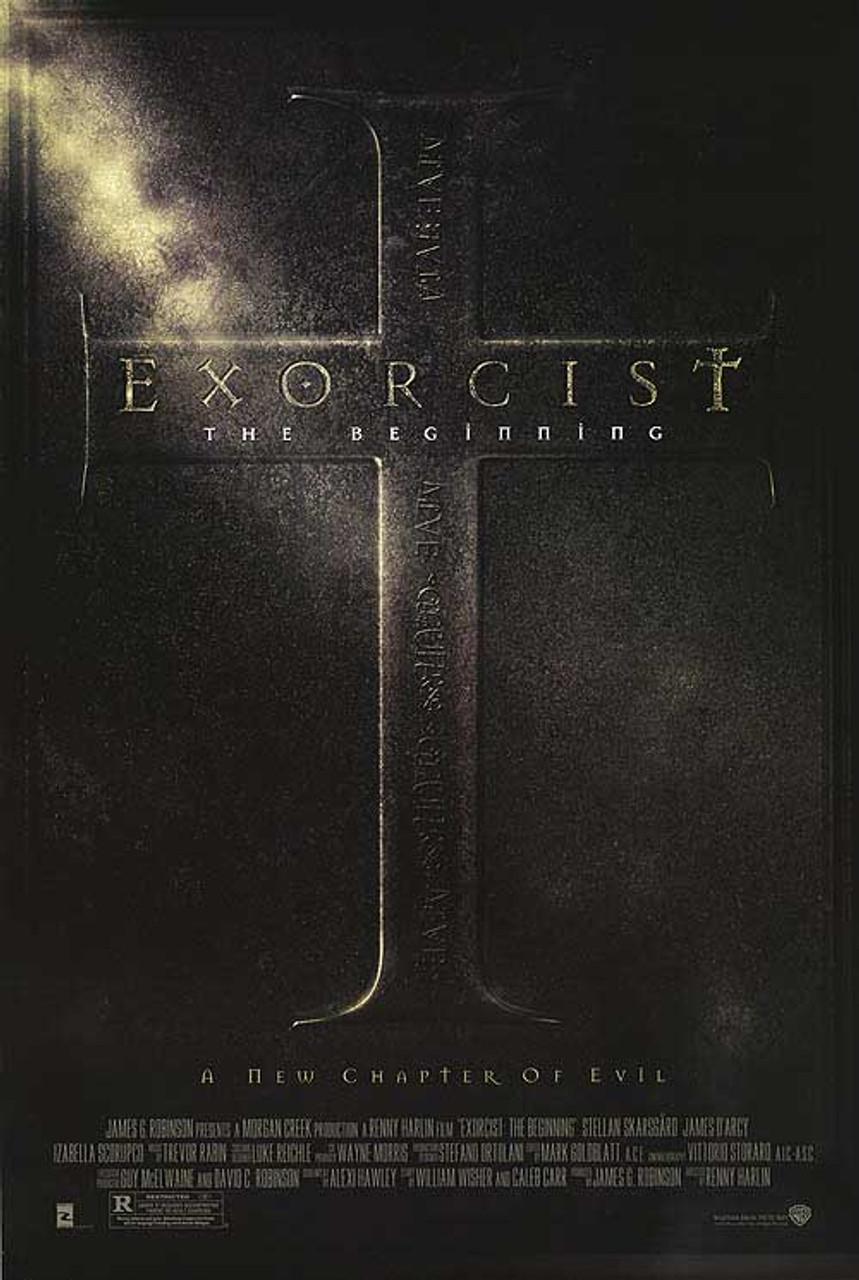 the exorcist the beginning double sided regular original cinema poster
