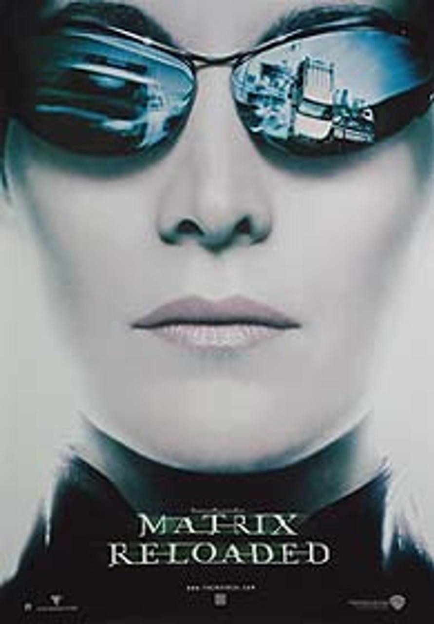 das matrix reloaded advance reprint trinity head nachdruckplakat