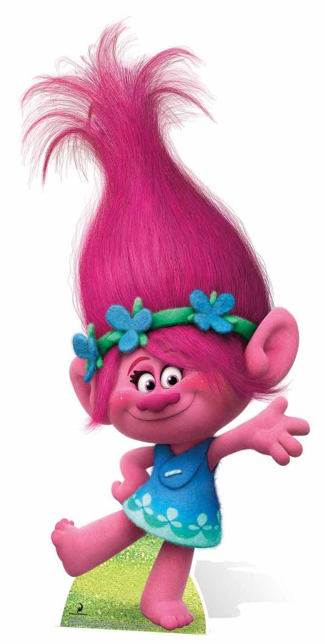 Princess Poppy From Trolls Cardboard Cutout Standee Standup