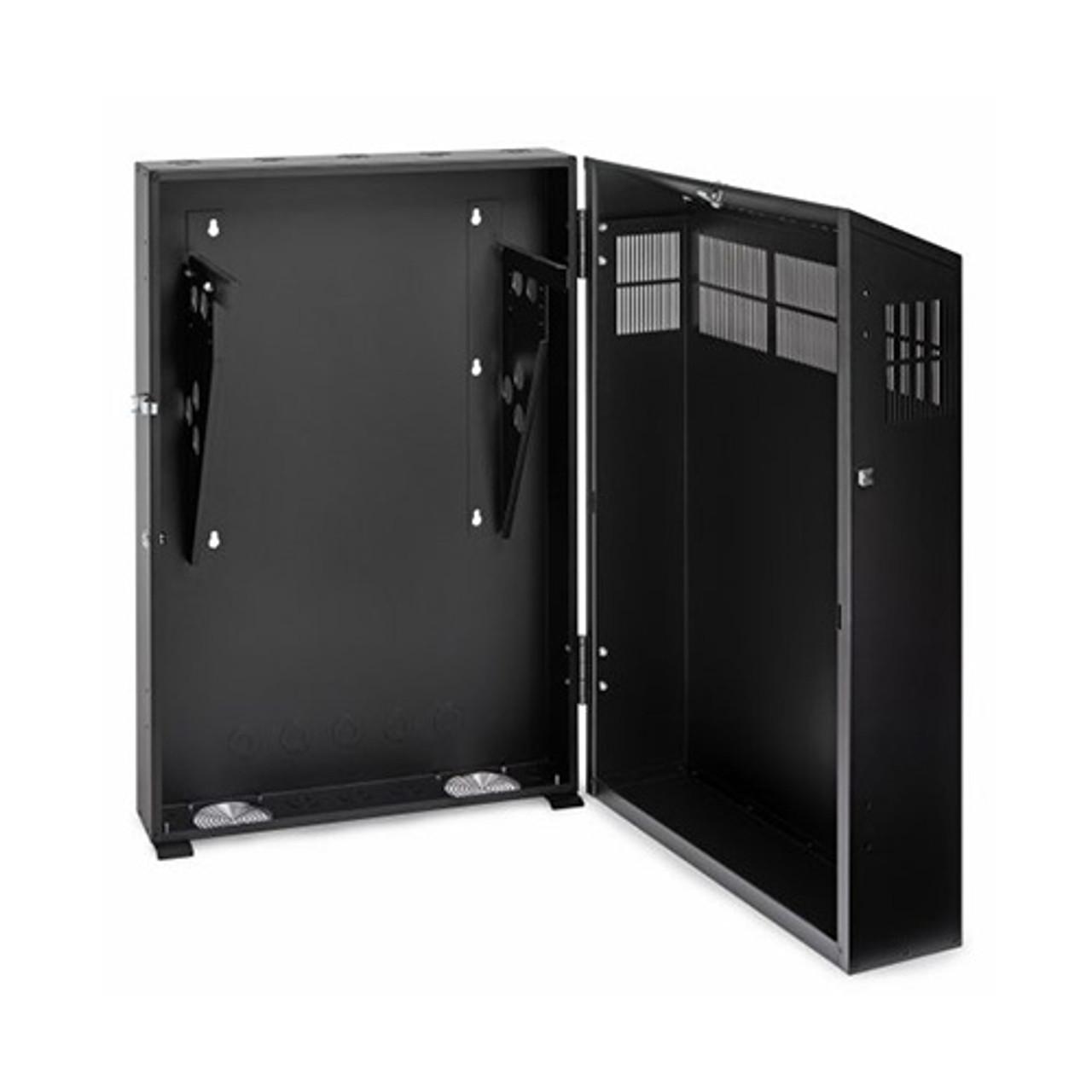6u vertical wall mount rack solid top