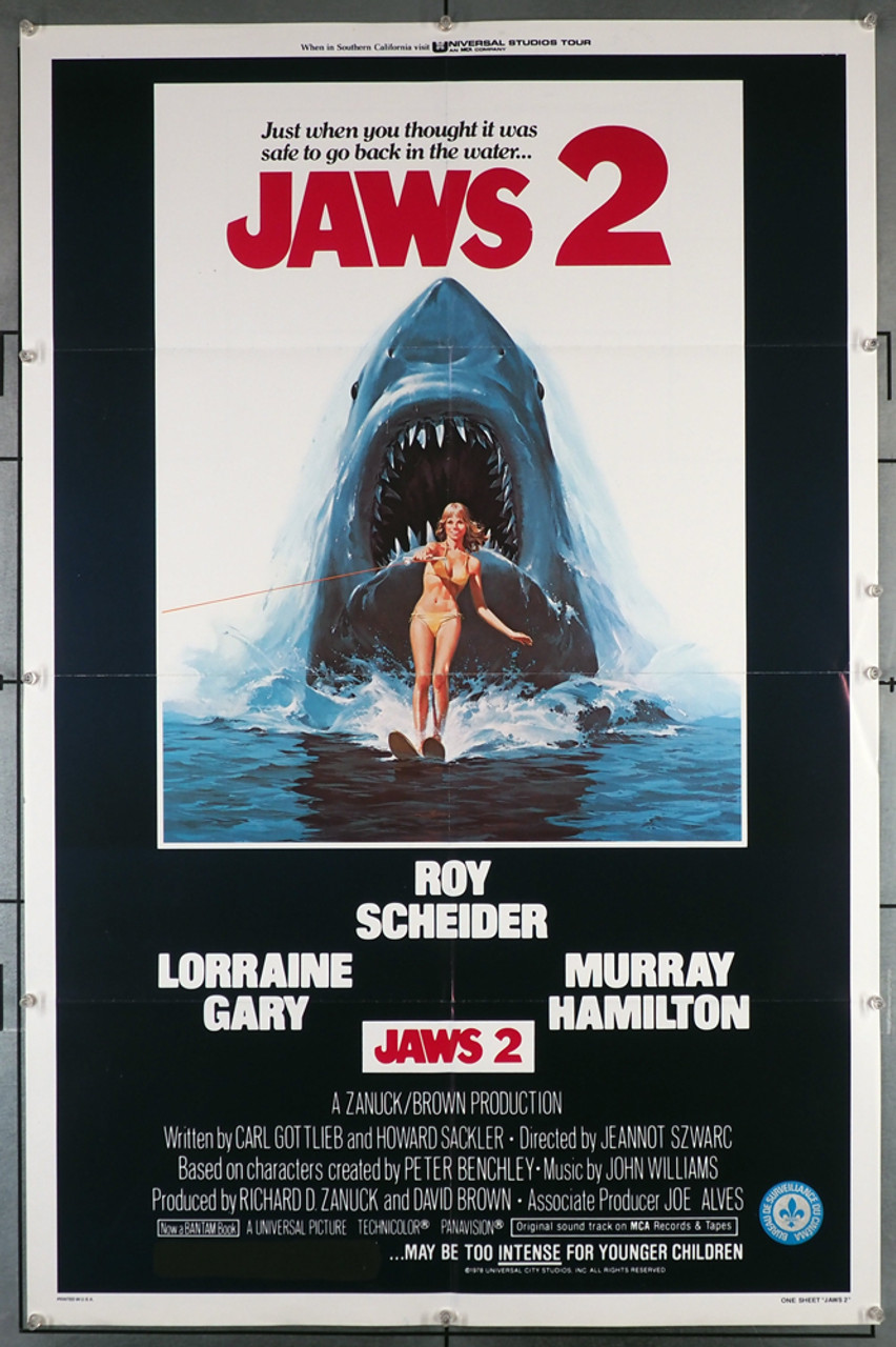 jaws 2 1978 29237 lorraine gary movie poster with art by lou feck