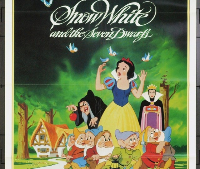 Snow White And The Seven Dwarfs 1937 3234 Original Walt Disney Productions One Sheet