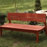 Polymer Four Seat Bench With Back In The Behren S Collection From Uwharrie Chair Company