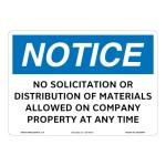 Notice No Solicitation Sign Os1267nh Sign