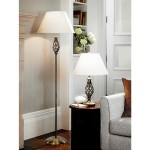 Barley Twist Table And Floor Lamp Set With Free 4w 8w Led Bulbs Scotts Of Stow