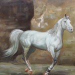 Horse Wildlife Oil Painting By S Charles 24 X 20 Dsc06334 Www Worldoilpaintings Com