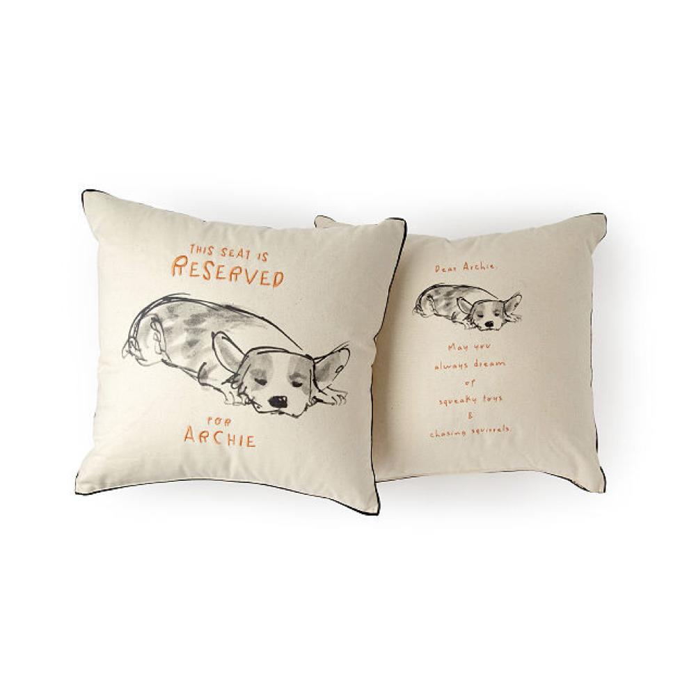 reserved custom dog pillow