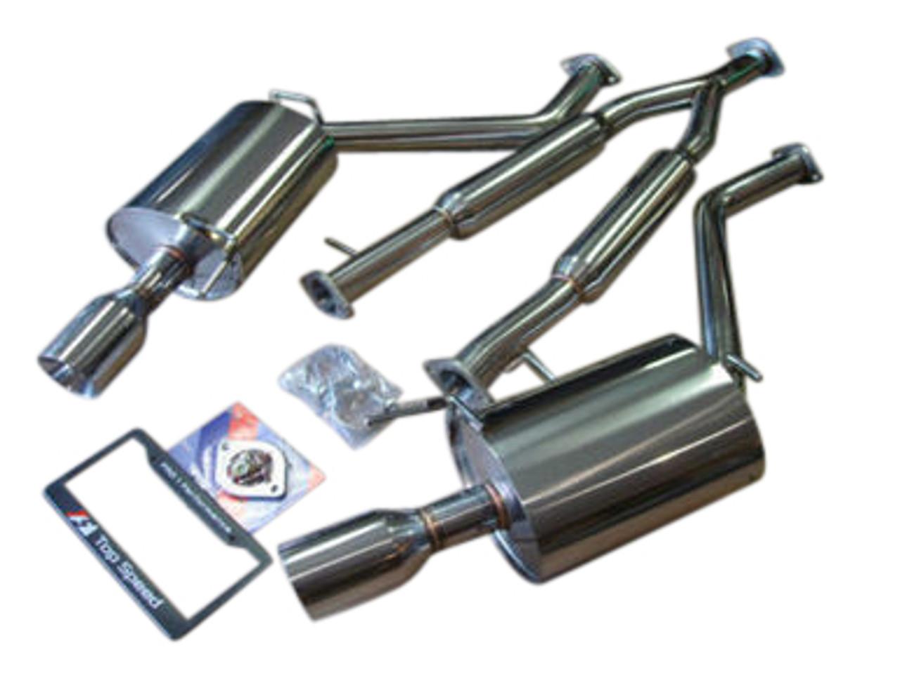 infiniti g35 g37 sedan 07 13 top speed pro 1 y pipe back exhaust system bevel edge tips