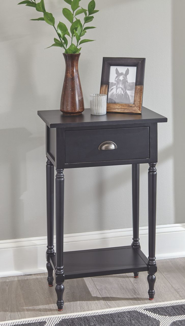 Ashley Juinville Black Accent Table On Sale At Red Shed Furniture Serving Goldsboro Wilson Greenville Nc