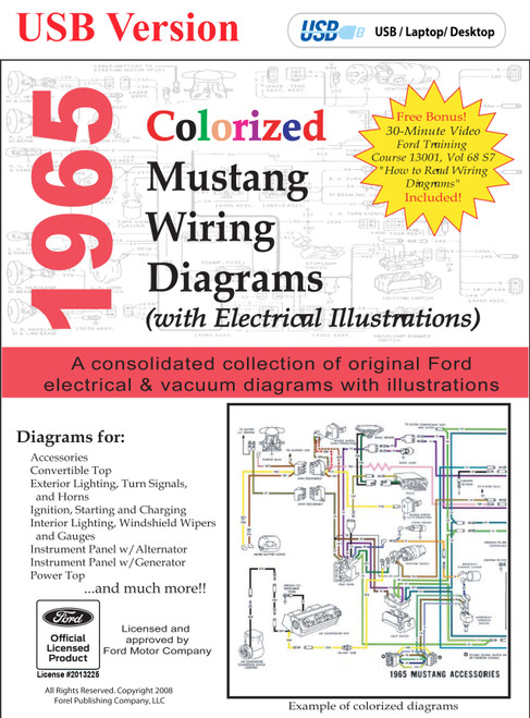19641973 ford mustang vacuum and wiring diagrams