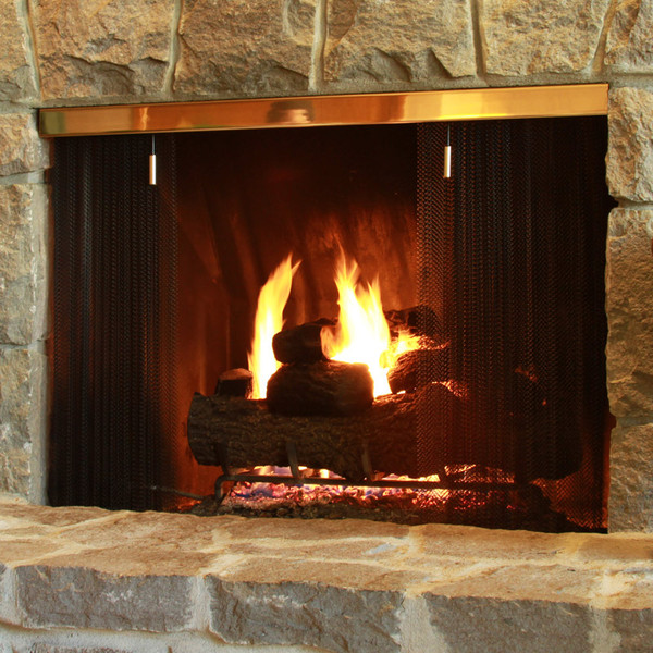 formed metal fireplace screen systems