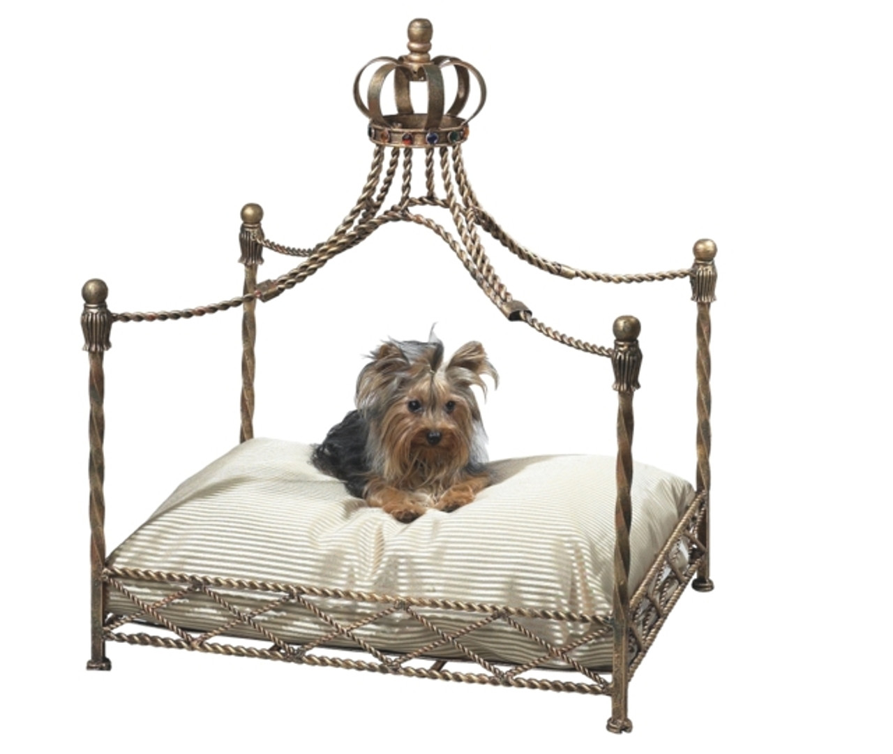 antique gold crown canopy dog bed