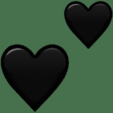 Image result for black heart emoji png