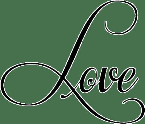 Download love lettering word cursive - Sticker by bella