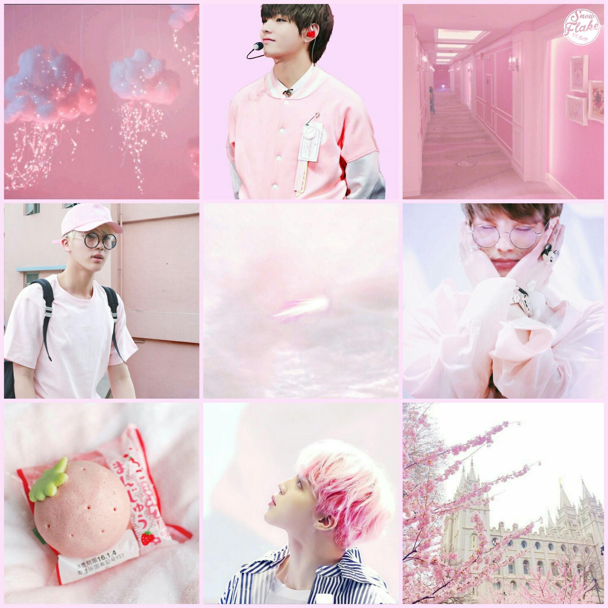 Bts Jimin Pink Popular Aesthetic Wallpaper - Glodakk