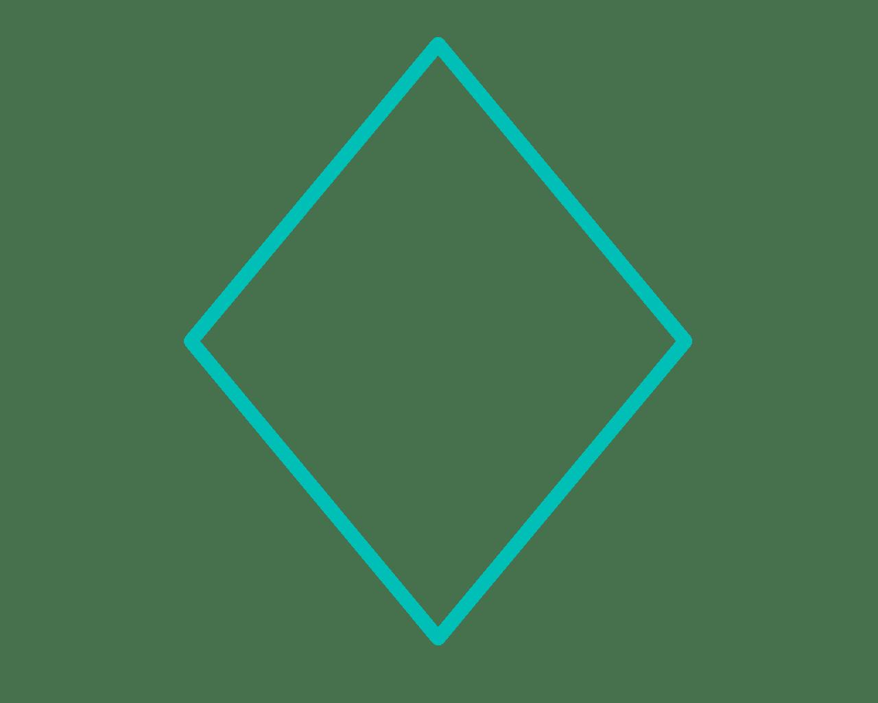 Frame Cadre Losange Formegeometrique Bleu Turquoise Dub