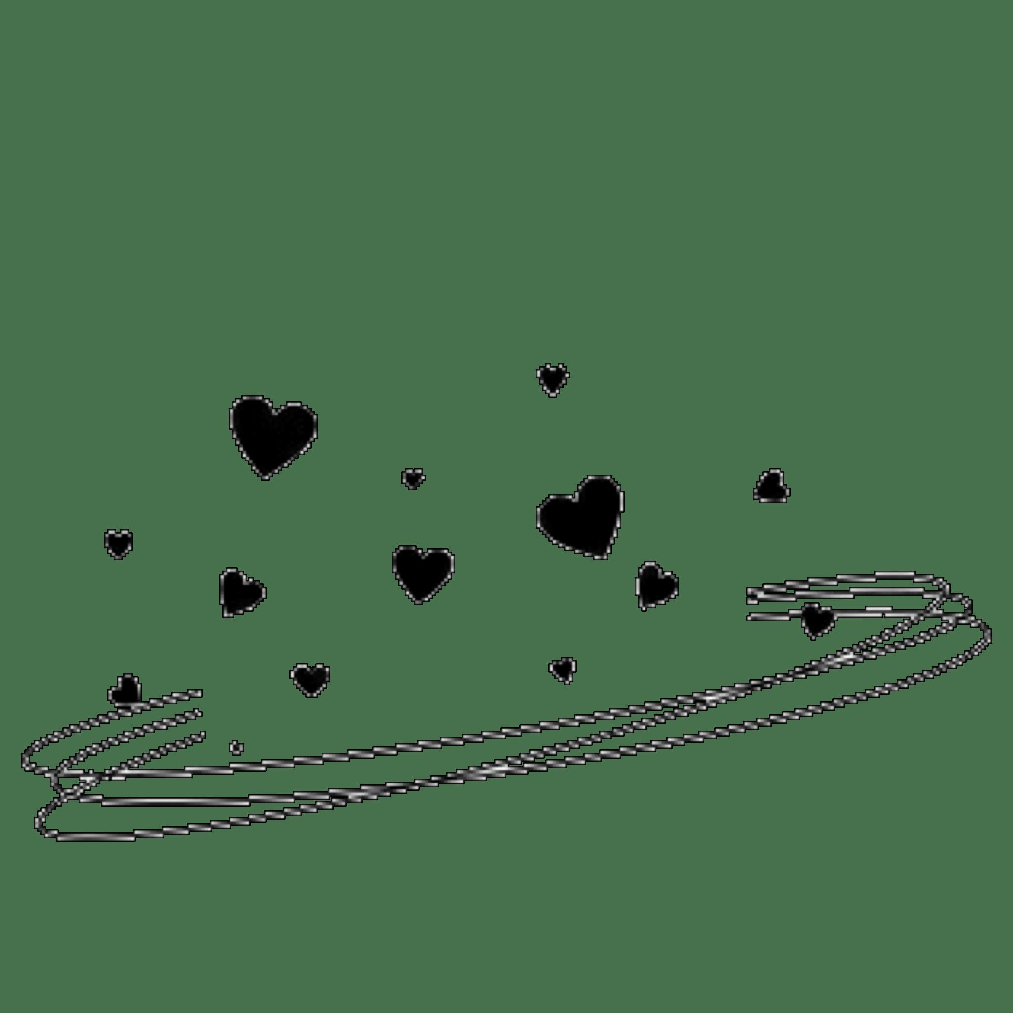 Heart Hearts Crown Heartcrown Swirls Black Blackcrown