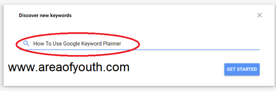 How To Use Google Keyword Planner step 2