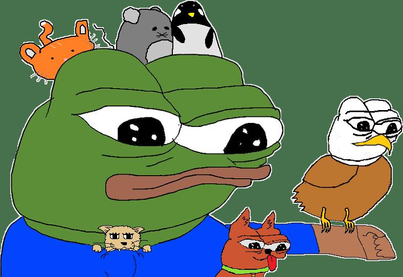 Pepe Meme Rarepepe Happy Sticker By Miguelaliarivas
