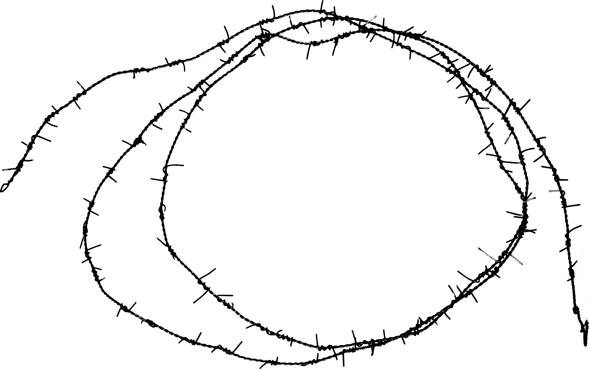 Freetoedit Barbed Wire Circle Border Element Hd Sticker