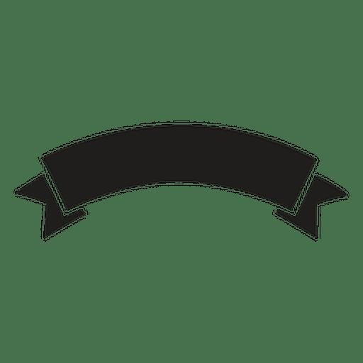 Fancy Scroll Silhouette Banners